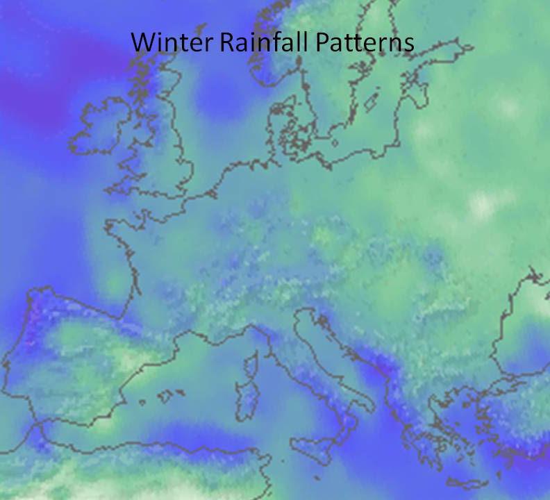 winter rainfall pattern europe