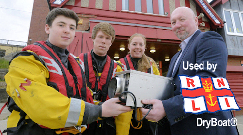 rnli use bryboat dehumidifiers