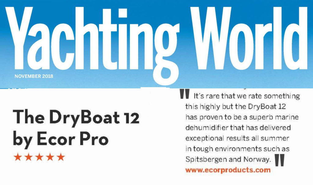 Yachting World November 2018 Selects Ecor Pro DH1200